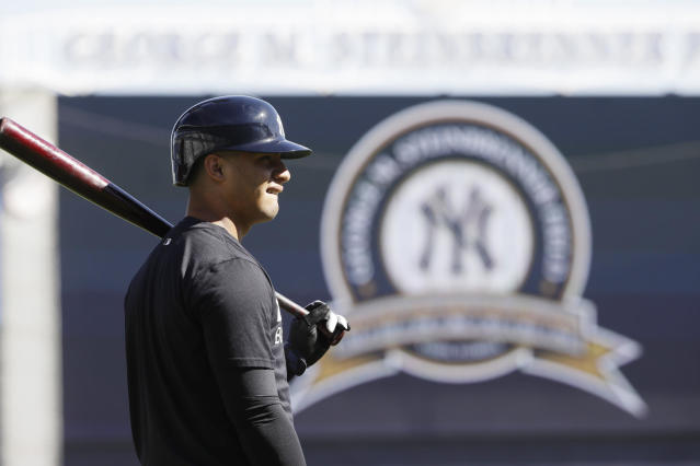 New York Yankees prospect Gleyber Torres is out for the season due to Tommy John surgery. (AP)