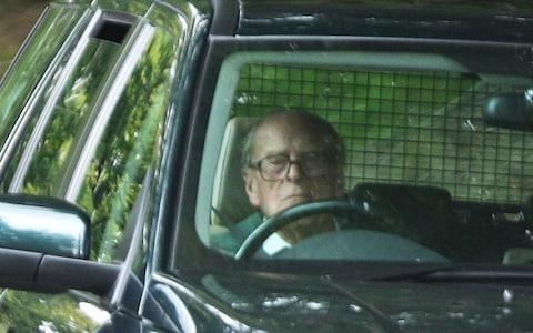 The Duke of Edinburgh driving in September 2018 - Credit: Peter Jolly