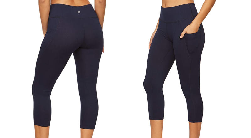 Colosseum Active Women's Nadia High Rise Spandex Blend Capri Legging with Pockets (Photo: Amazon)