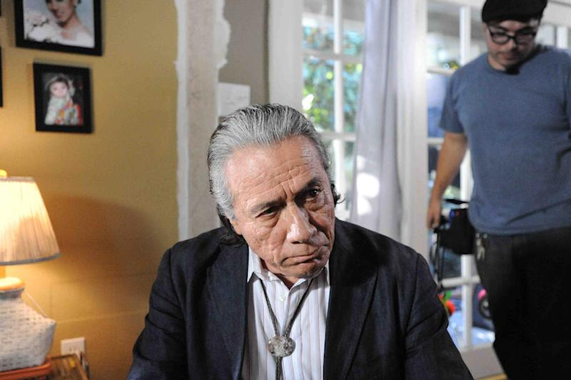 "This publicity photo provided by Pantelion Films shows Edward James Olmos in a scene from the film, ""Filly Brown."" The film releases on April 19, 2013. (AP Photo/Pantelion Films/Lionsgate, John Castillo)"