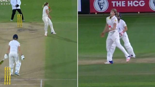 She didn't even see it until it hit her. Image: Cricket Network