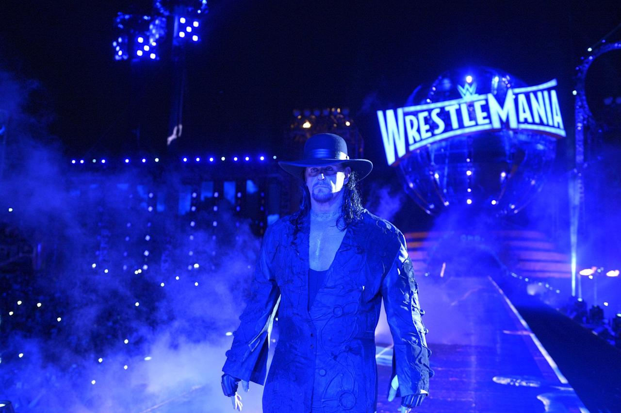 "<p>For over two decades, WrestleMania was dominated by The Undertaker and <a href=""https://www.digitalspy.com/tv/wwe/feature/a558775/the-undertakers-wrestlemania-streak-in-pictures-should-it-end/"">The Streak</a>.</p><p>The Phenom went a stunning 21 matches undefeated before his eventual loss to Brock Lesnar at <a href=""https://www.digitalspy.com/tv/wwe/review/a562778/wrestlemania-xxx-review-the-end-of-an-era-dawn-of-a-new-age-part-two/"">WrestleMania XXX</a>.</p><p>He returned the following year to <a href=""https://www.digitalspy.com/tv/wwe/feature/a638727/13-amazing-moments-from-wrestlemania-31/"">defeat Bray Wyatt</a> and the year after that to beat <a href=""https://www.digitalspy.com/tv/wwe/news/a789181/wrestlemania-32-all-the-results-and-highlights-live-as-they-happen/"">Shane McMahon</a> in Hell in Cell, but <a href=""https://www.digitalspy.com/tv/wwe/feature/a824693/wwe-wrestlemania-33-live-blog-results-review-recap-match-card/"">lost to Roman Reigns at WrestleMania 33</a> in a match many thought marked his retirement.</p><p>But John Cena <a href=""https://www.digitalspy.com/tv/wwe/feature/a852130/wwe-raw-results-john-cena-the-undertaker-wrestlemania-34/"">called out The Undertaker</a> for successive weeks on <a href=""https://www.digitalspy.com/tv/wwe/feature/a853263/wwe-raw-undertaker-john-cena-wrestlemania-34-kane/"">Monday Night Raw</a>, and after an extended tease with Elias, <a href=""https://www.digitalspy.com/tv/wwe/feature/a853777/wrestlemania-34-results-review-recap-video-highlights-matches-card/"">it happened at WrestleMania 34</a>.<br></p><p>He took a rare year off and sat out WrestleMania 35, but returned in what may be THE late-career highlight of The Undertaker with a stunning win over AJ Styles in a Boneyard Match. </p>"