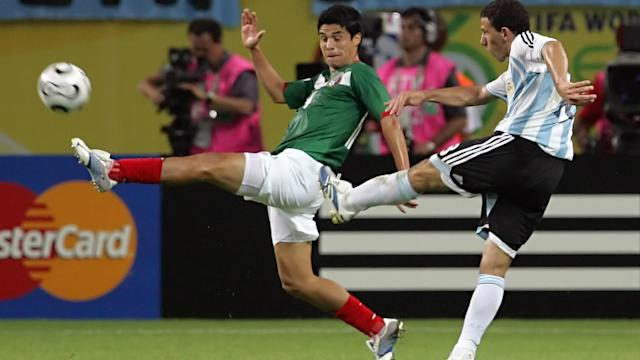 Maximiliano Rodriguez Argentina Mexico FIFA World Cup Germany 2006