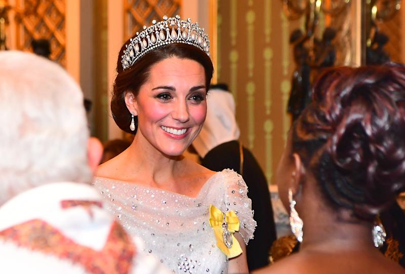 Kate Middleton Wears Tiara Palace Party