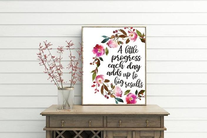 <p>The <span>Progress Motivational Wall Decor</span> ($3) will remind you that true progress takes time.</p>