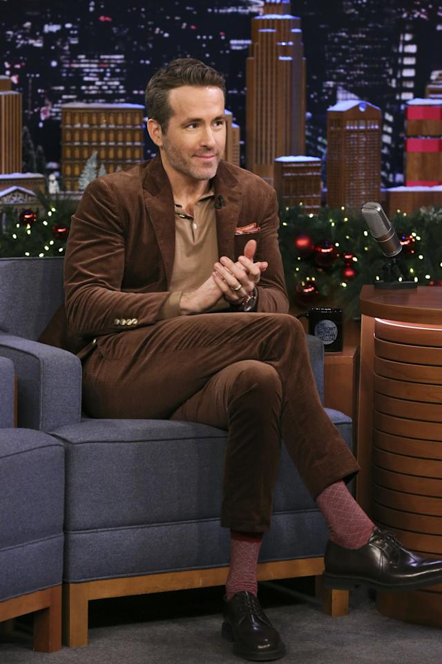 <p>WHAT: Brunello Cucinelli suit and shirt, London Sock Co socks, and Officine Creative shoes</p> <p>WHERE: <em>The Tonight Show Starring Jimmy Fallon</em></p> <p>WHEN: December 12, 2019</p> <p>WHY: Separately, a brown corduroy suit and a knit polo are winter essentials. Together, they are unbeatable.</p>