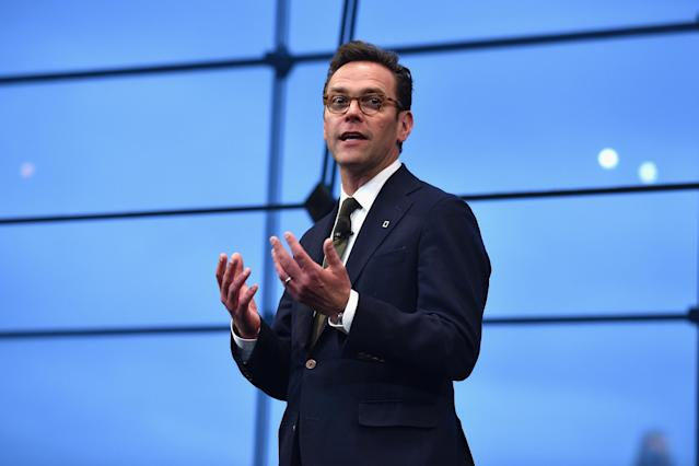James Murdoch resigned over 'editorial' decisions within the business. Photo: Bryan Bedder/Getty Images for National Geographic