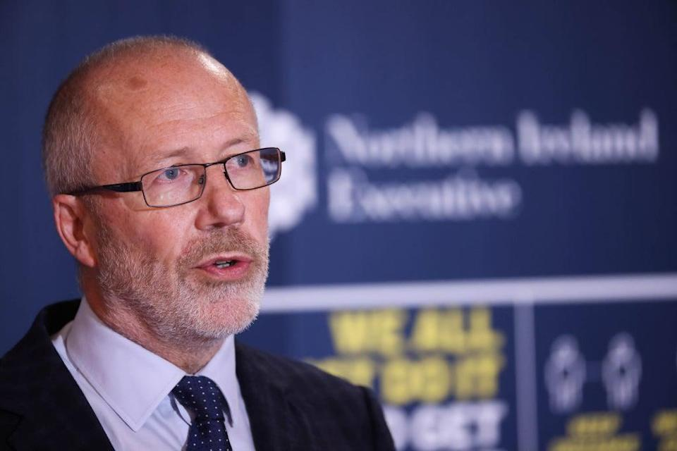 Northern Ireland's chief scientific adviser Professor Ian Young has delivered recommendations to Stormont ministers on Covid rules (Press Eye/PA) (PA Media)