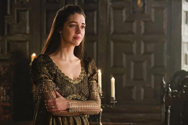 Adelaide Kane as Mary Queen of Scots in The CW's 'Reign' (Photo Credit: Ben Mark Holzberg/The CW)