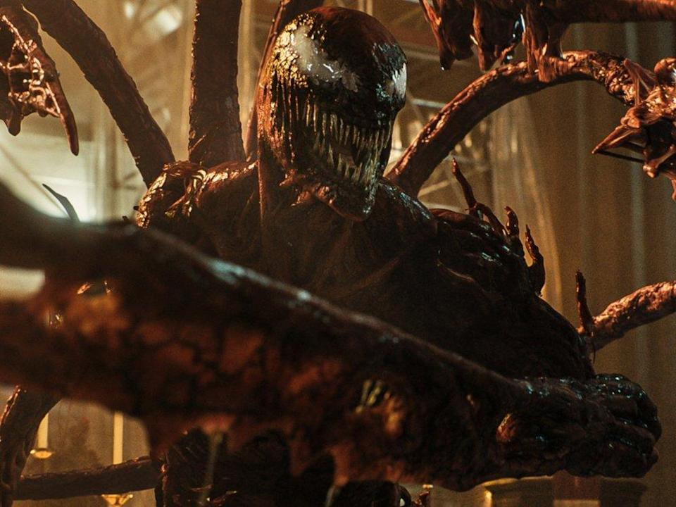 """In den US-Kinos ist """"Venom: Let There Be Carnage"""" ab dem 1. Oktober zu sehen. (Bild: © 2021 Sony Pictures Entertainment Deutschland GmbH; MARVEL and all related character names: © & ™ 2021 MARVEL)"""