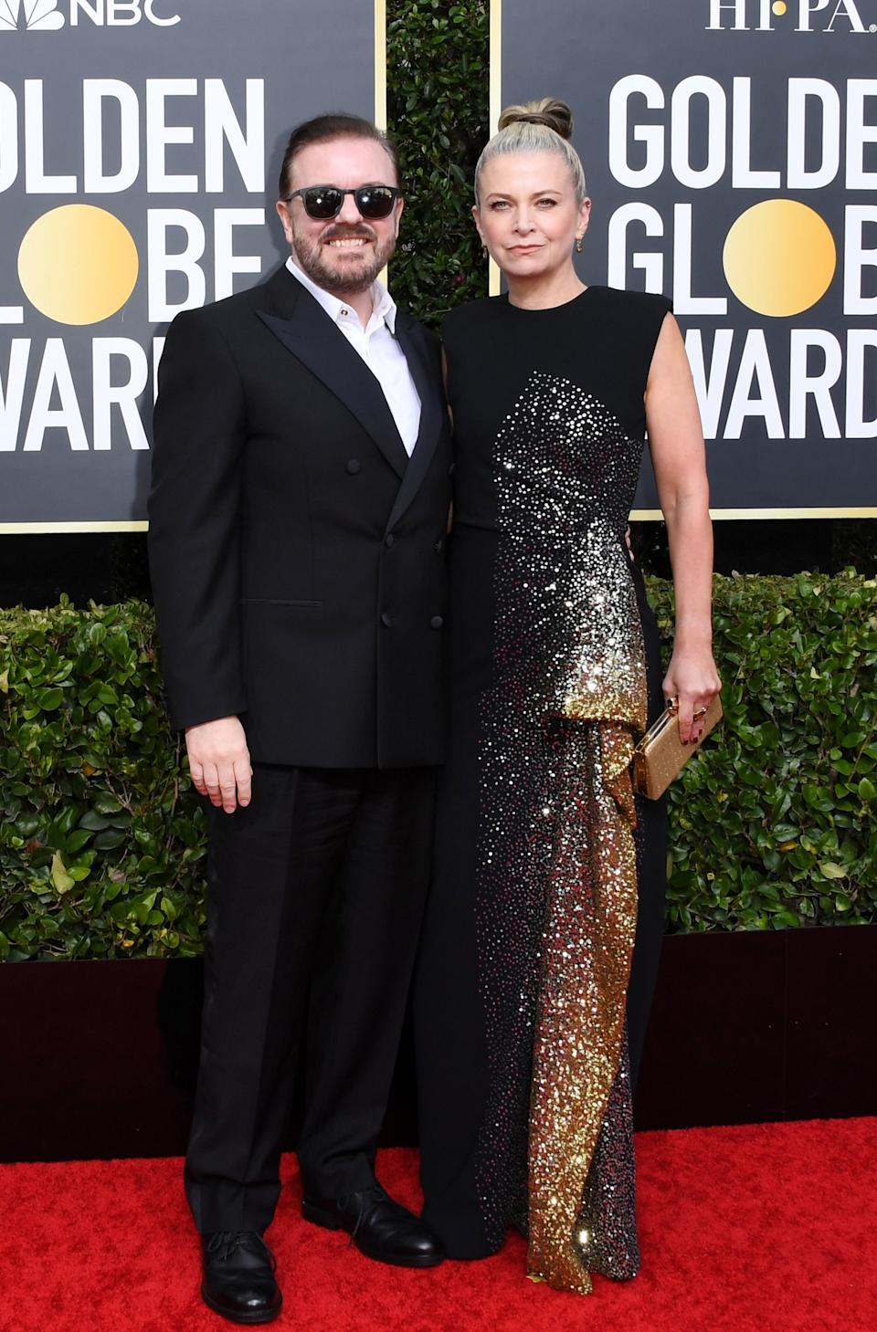 "<h1 class=""title"">Ricky Gervais and Jane Fallon</h1><cite class=""credit"">Photo: Getty Images</cite>"