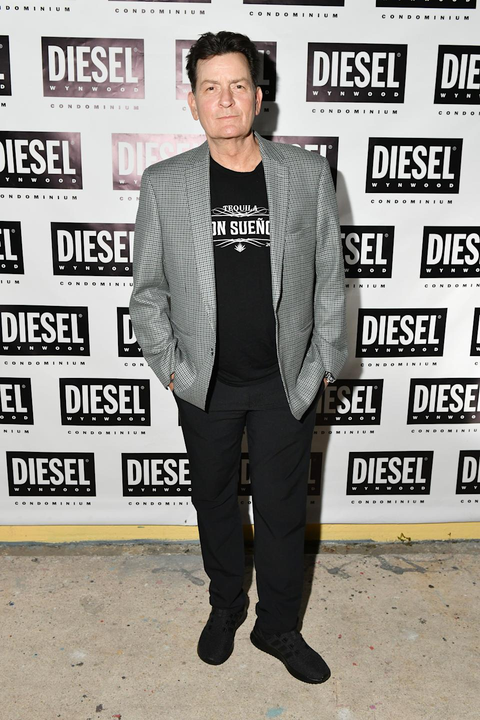 MIAMI, FLORIDA - DECEMBER 04: Charlie Sheen attends as DIESEL celebrates the exclusive launch of DIESEL Wynwood 28, their first residential building, with a DJ set by Amrit at Barter on December 04, 2019 in Miami, Florida. (Photo by Craig Barritt/Getty Images for Diesel)