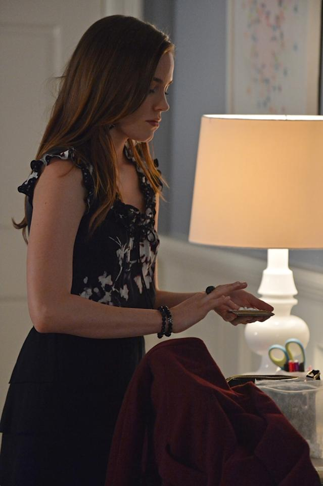 "Charlotte (Christa B. Allen) turns to her pill stash for comfort in the ""Reckoning"" episode of ""Revenge.""<br><br>Tune  in to ""Revenge"" this week to see what happens on the season finale --  and be sure to download our super-cool TV app, IntoNow, and <a href=""http://www.intonow.com//promo/revenge"">enter our ""Revenge"" sweepstakes</a> to win a luxury getaway in the Hamptons."