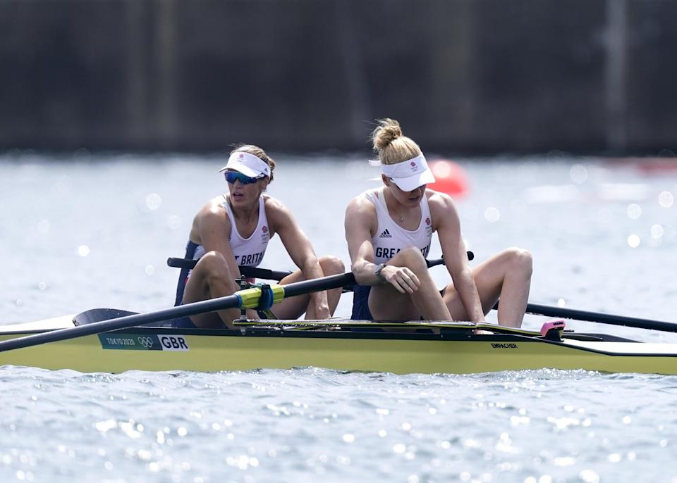 Helen Glover and Polly Swann had to settle for fourth place on Thursday morning (Danny Lawson/PA) (PA Wire)
