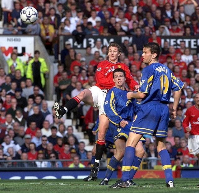 Ole Gunnar Solskjaer securing Manchester United a late 1-1 draw against Leeds in October 2001