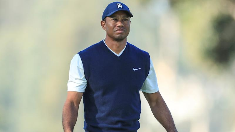 Tiger Woods seen playing golf with son Charlie at Frederica on St. Simons Island