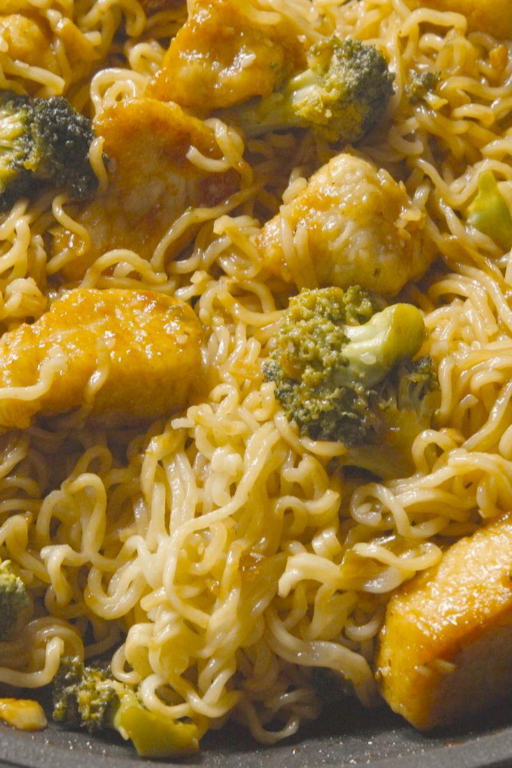"""<p>This <a href=""""https://www.delish.com/cooking/recipe-ideas/g3471/sesame-chicken-recipes/"""" rel=""""nofollow noopener"""" target=""""_blank"""" data-ylk=""""slk:sesame chicken"""" class=""""link rapid-noclick-resp"""">sesame chicken</a> and broccoli skillet is a fun and easy weeknight dinner the whole family will love.</p><p>Get the recipe from <a href=""""https://www.delish.com/cooking/recipe-ideas/recipes/a47632/sesame-chicken-ramen-skillet-recipe/"""" rel=""""nofollow noopener"""" target=""""_blank"""" data-ylk=""""slk:Delish"""" class=""""link rapid-noclick-resp"""">Delish</a>.</p>"""