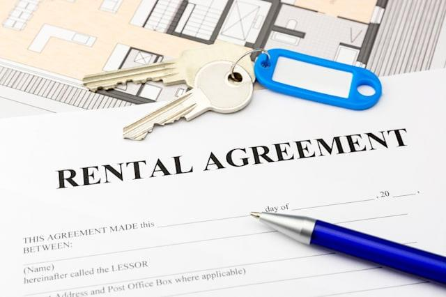 rental agreement document with...