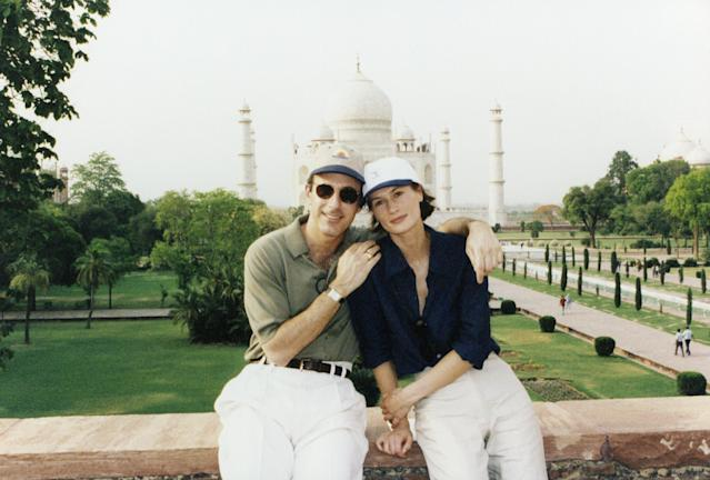 "Matt Lauer's then-girlfriend Annette Roque accompanied him to the Taj Mahal in India on April 4, 1998, for the <em>Today</em> show's ""Where in the World Is Matt Lauer?"" (Photo: NBC/NBC NewsWire)"