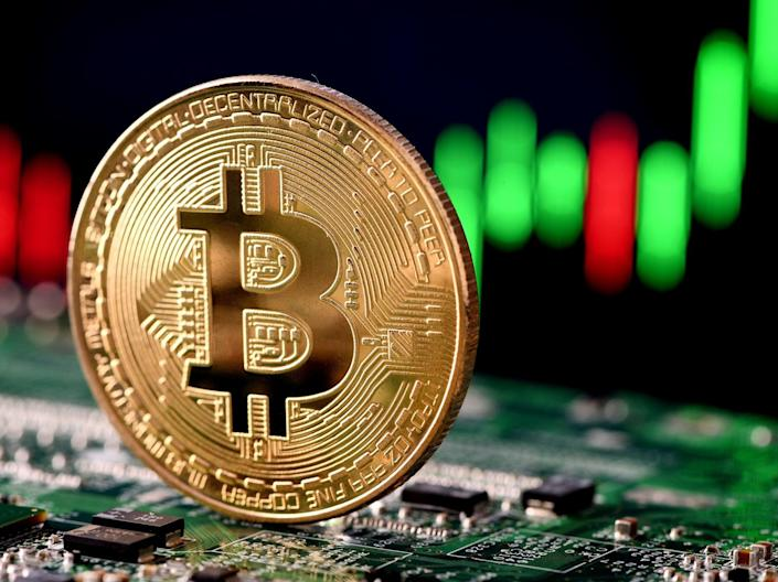 Bitcoin hit a new all-time high on Tuesday, 13 April 2021, when its price rose above $62,000 (Getty Images)