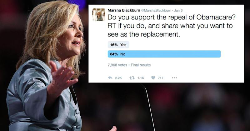 This Republican congresswoman's Twitter poll on Obamacare didn't go