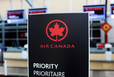 FILE PHOTO: Air Canada signage is pictured at Vancouver's international airport in Richmond,