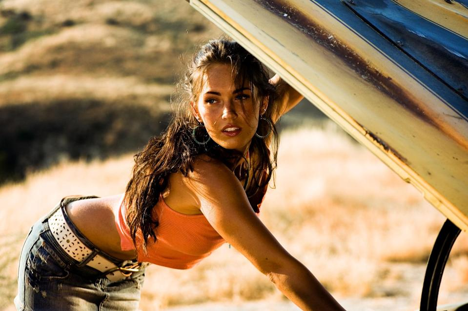 Megan Fox in 2007's <i>Transformers</i> (Photo: Paramount)