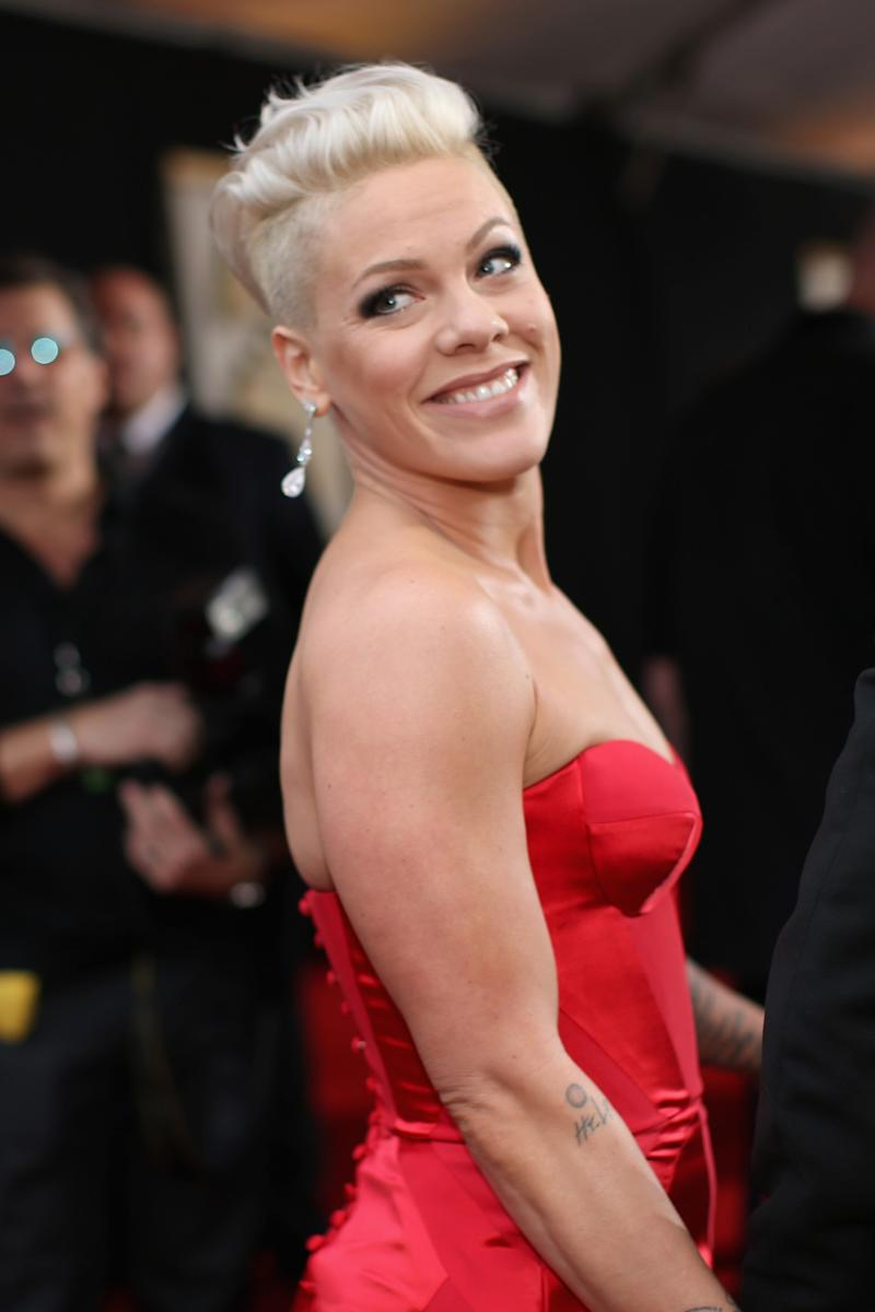 Pink Got Tipsy and Cut Her Own Hair While Stuck at Home