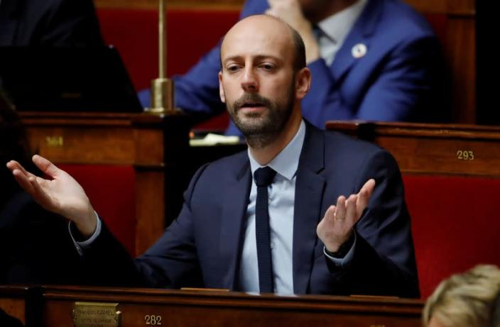 FILE PHOTO: Stanislas Guerini, La Republique En Marche (LREM) member of the parliament, attends the questions to the government session at the National Assembly in Paris