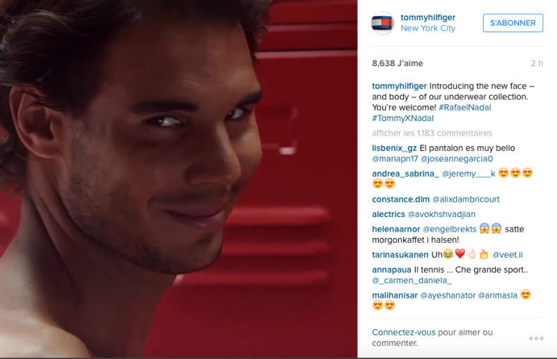 Tommy Hilfiger's new underwear model: Rafael Nadal