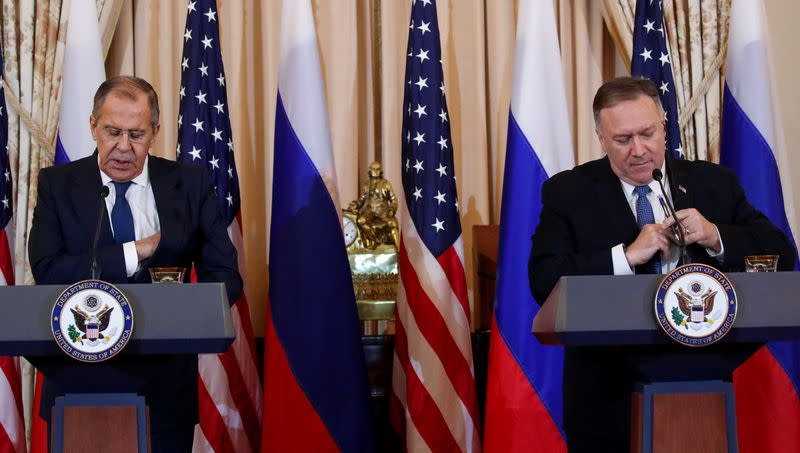 Pompeo says he warned Lavrov against offering bounties for U.S. soldiers