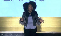In this video image provided by NATAS and the Daytime Emmys, host Sheryl Underwood speaks during the 48th Daytime Emmy Awards on Friday, June 25, 2021. (NATAS/Daytime Emmys via AP)