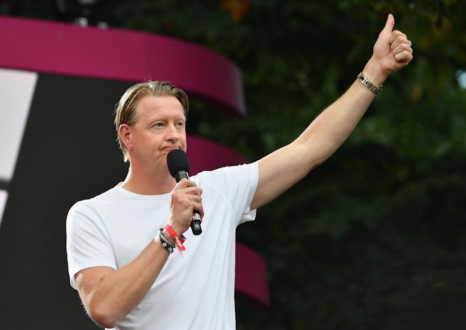 CEO of Verizon Communications Hans Vestberg speaks onstage at the 2019 Global Citizen Festival: Power The Movement in Central Park in New York on September 28, 2019. (Photo by Angela Weiss / AFP)        (Photo credit should read ANGELA WEISS/AFP/Getty Images)