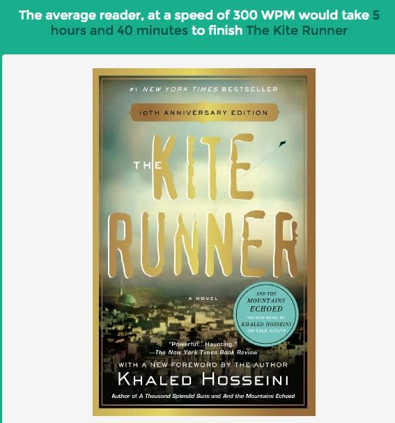 kite runner read
