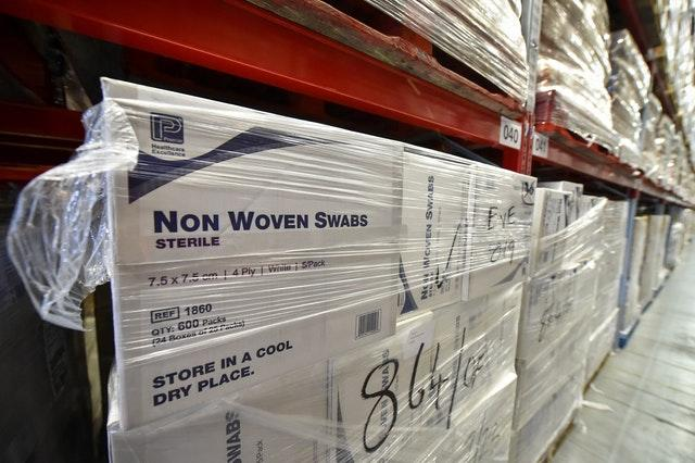 Boxes of medical swabs are among items being stockpiled