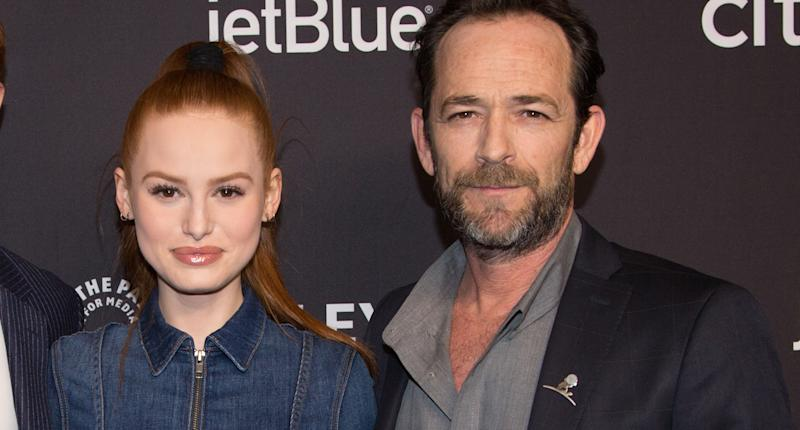 "Madelaine Petsch and Luke Perry attend the ""Riverdale"" event for PaleyFest LA on March 25, 2018, at the Dolby Theatre in Hollywood, Calif. (Photo: Getty Images)"