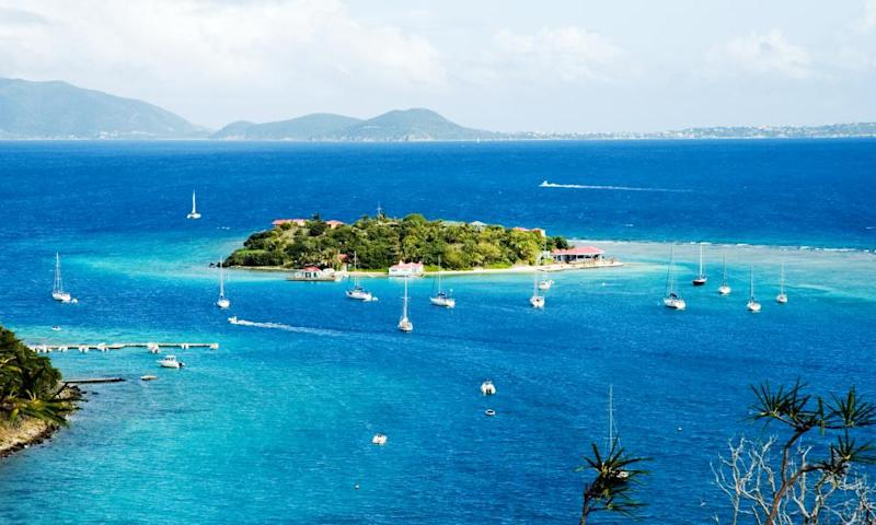 Yachts sailing in the British Virgin Islands