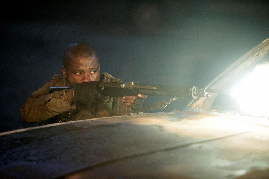 """Mpho Koaho in the """"Falling Skies"""" episode, """"Collateral Damage."""""""