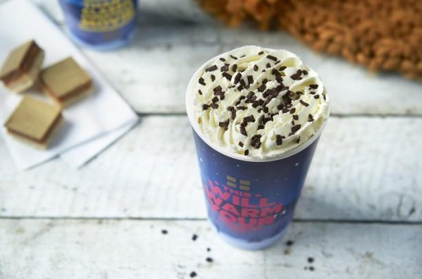 For those craving coffee, Greggs' mint mocha contains 46g of sugar (Greggs)