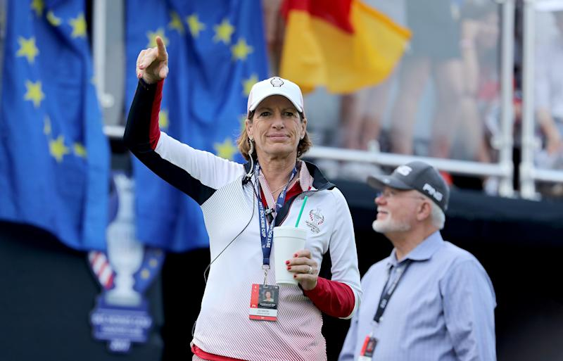 Juli Inkster is looking to become the first Solheim Cup captain to win three straight matches