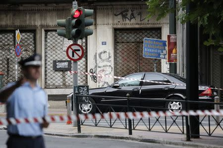 In Greece, blew up the vehicle of former Prime Minister