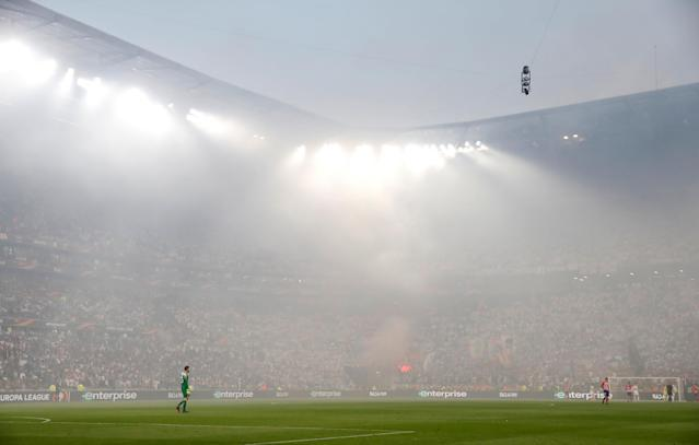Soccer Football - Europa League Final - Olympique de Marseille vs Atletico Madrid - Groupama Stadium, Lyon, France - May 16, 2018 General view during the game REUTERS/Christian Hartmann