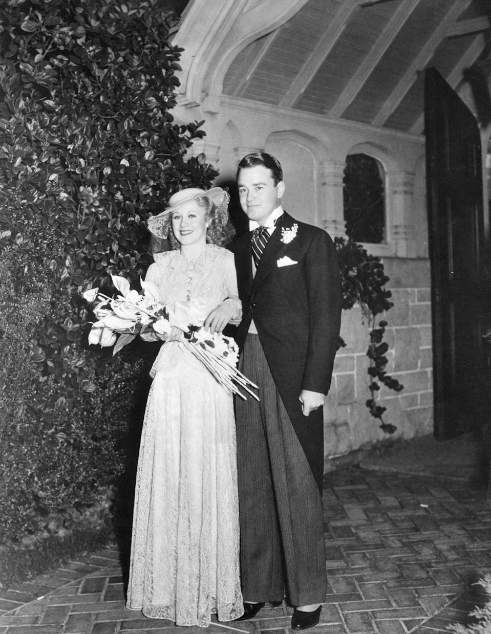 <p>After meeting on the set of <em>Don't Bet on Love </em>in 1933, Ginger Rogers and Lew Ayres married a year later in November 1934. The couple was married for six years, but divorced in 1940. </p>