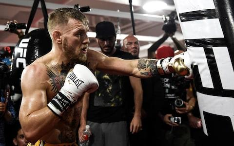 Conor McGregor Media Workout - Credit:  Zuffa LLC