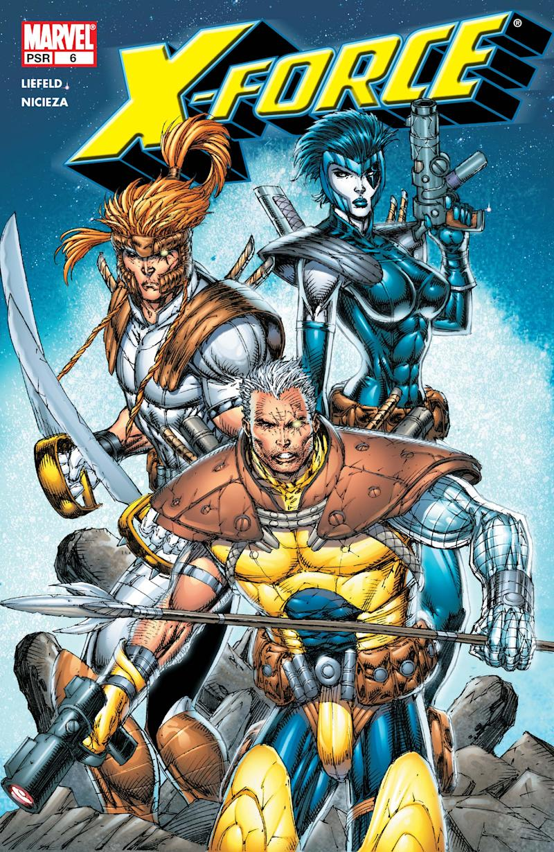 A cover of Marvel's X-Force comic series, by artist Rob Liefeld. (Marvel Comics)