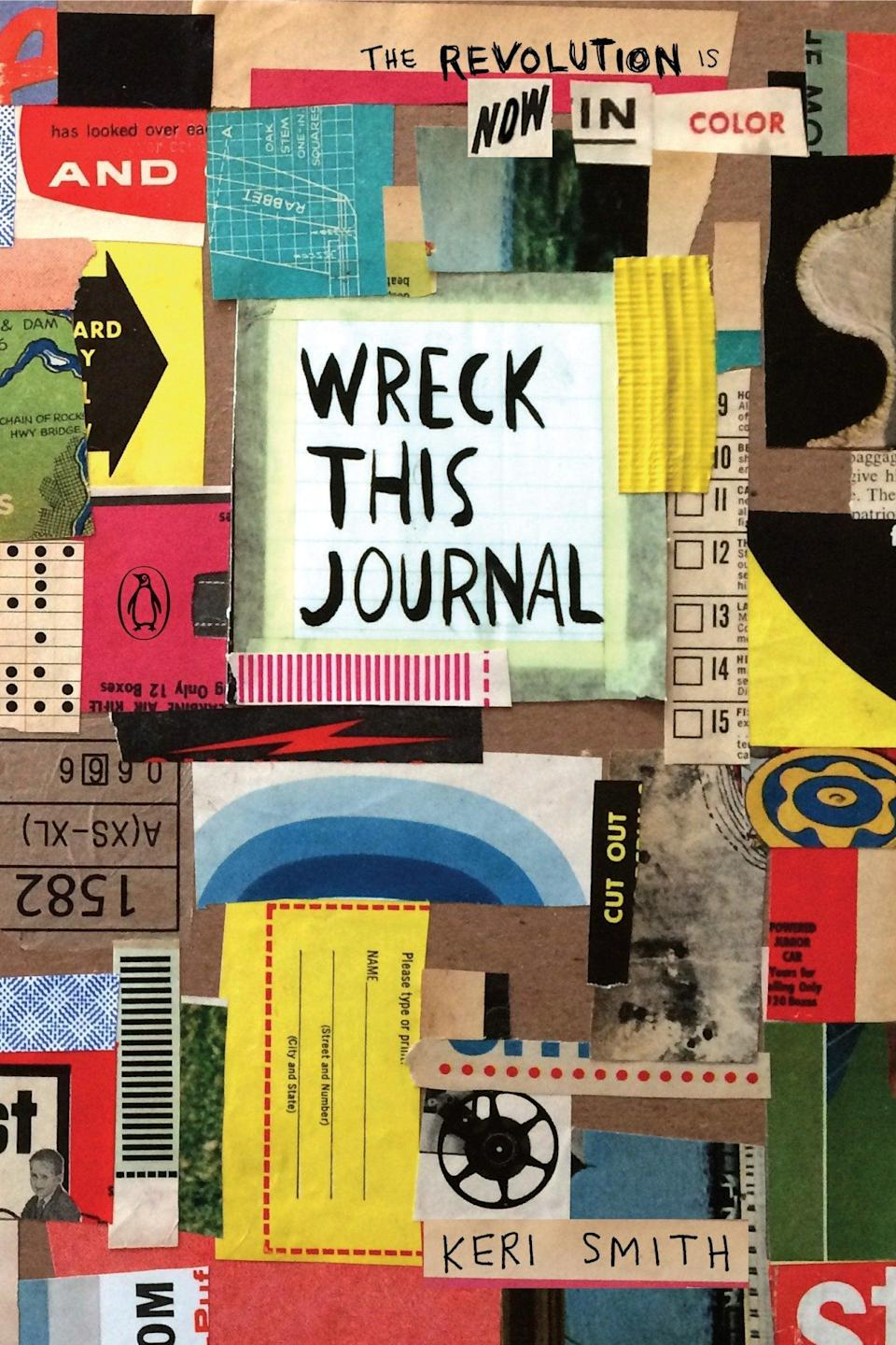 """<h2>Keri Smith's """"Wreck This Journal""""</h2><br>A journal filled with colorful creative exercises is the perfect way to help anyone kick off a better 2021. <br><br><strong>Penguin Books</strong> Wreck This Journal, $, available at <a href=""""https://www.amazon.com/gp/product/0143131664"""" rel=""""nofollow noopener"""" target=""""_blank"""" data-ylk=""""slk:Amazon"""" class=""""link rapid-noclick-resp"""">Amazon</a>"""