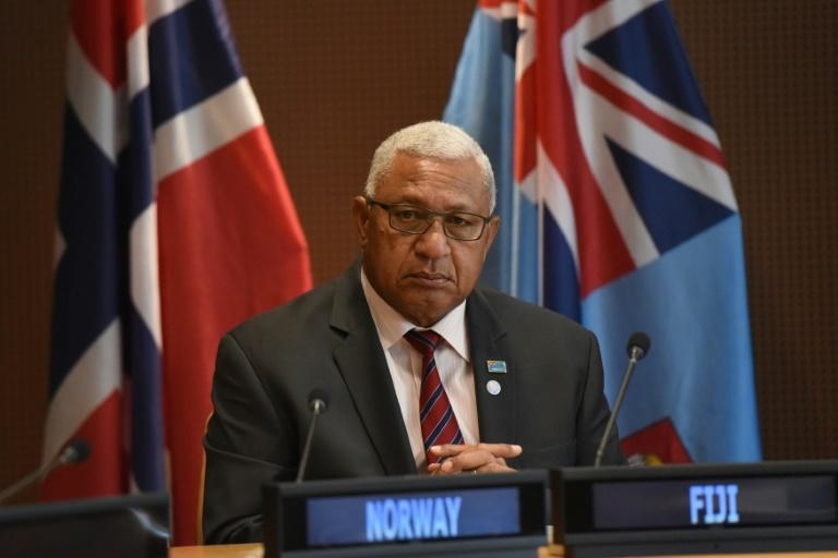 Prime Minister Frank Bainimarama said he hoped the bubble plan would 'allow Aussies and Kiwis to once again enjoy the best of Fiji' (AFP Photo/STEPHANIE KEITH)