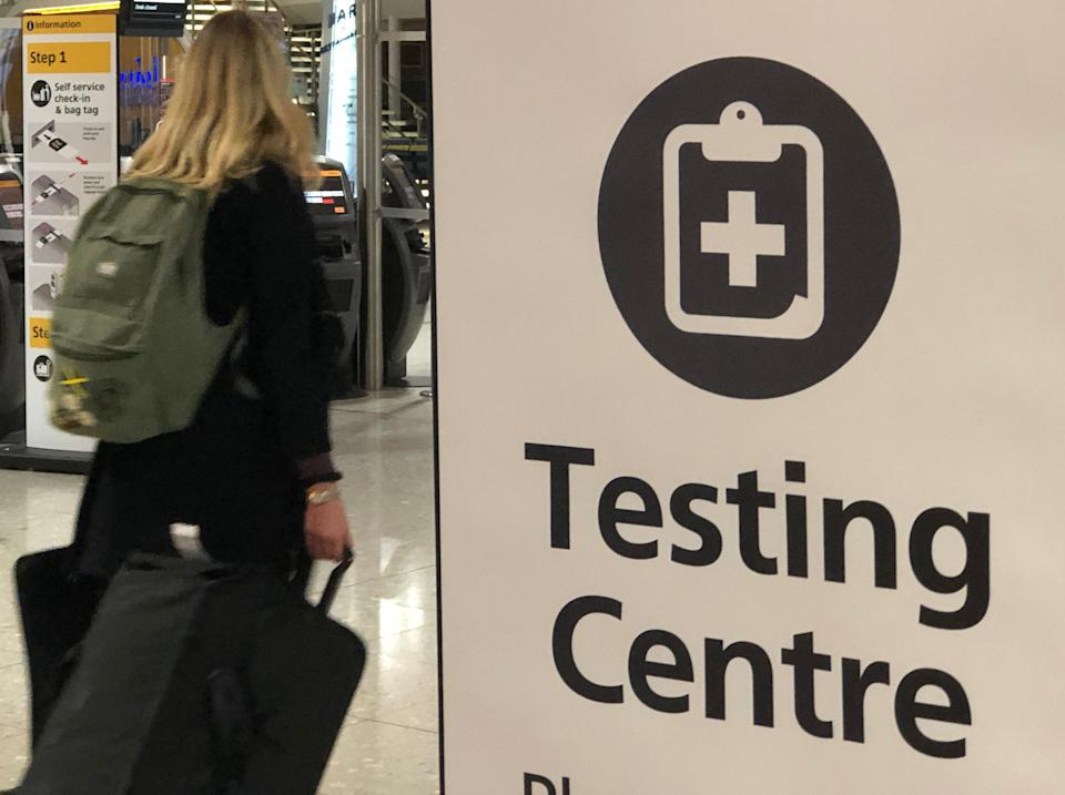 Testing times: the testing centre at Heathrow airport Terminal 2 (Simon Calder)