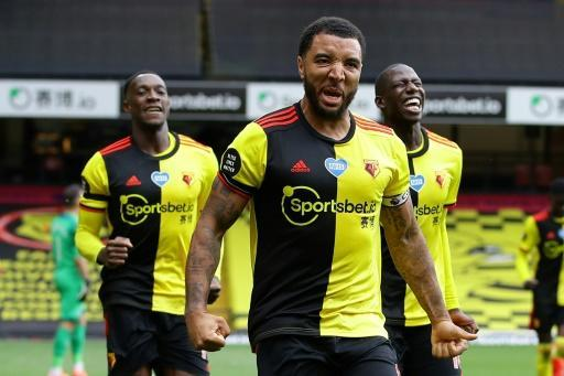 Watford's Troy Deeney boosted his side's survival hopes