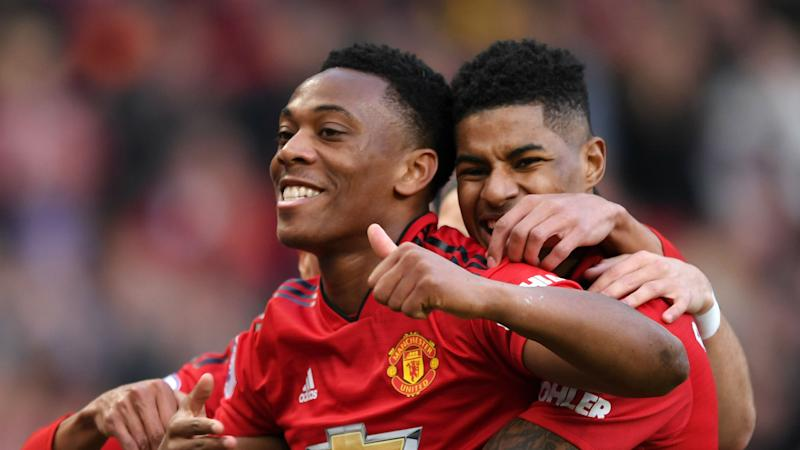 Competition for goals with Rashford helps Man Utd 'terrorise' defences, says Martial